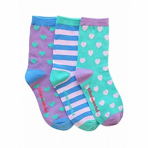 Marvelous Hearts Adult Ankle Socks - 3 Single Socks