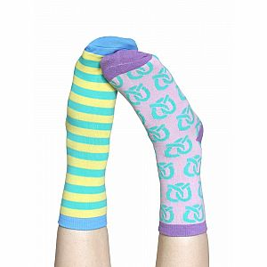 Marvelous Pretzels Adult Ankle Socks - 3 Single Socks